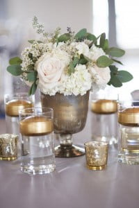 bougie or pour mariage d'hiver