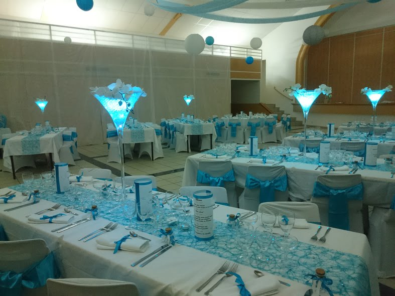 decoration table mariage turquoise. Black Bedroom Furniture Sets. Home Design Ideas